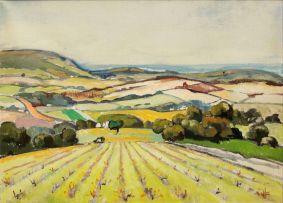 Gregoire Boonzaier; Landscape with Vineyard