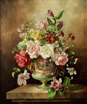 Harold Clayton; Still Life with Roses