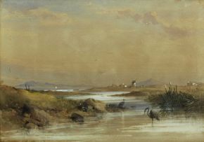 Thomas Bowler; Salt River, Blou Berg in the Distance