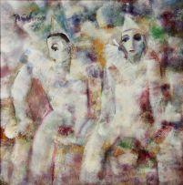 Carl Büchner; Two Pierrots