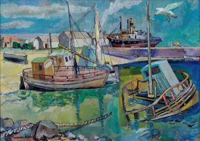 Alexander Podlashuc; Fishing Harbour, Port Elizabeth, April 1966