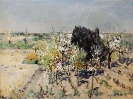 Terence McCaw; The Orchard in Blossom