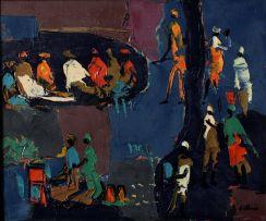 Walter Battiss; Limpopo Scene in Blue