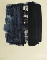 Pierre Soulages; Composition Noir et Bleu