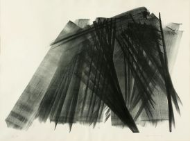 Hans Hartung; Komposition in Grunschwarz