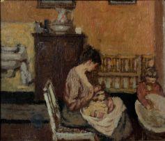Bernard Dunstan; In the Nursery
