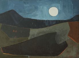 Erik Laubscher; Landscape with Moon