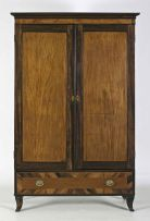 A Cape yellowwood and stinkwood cupboard, 19th century