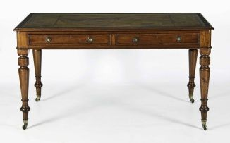 An early Victorian mahogany writing table