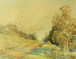 William Timlin; A Road in a Mountain Landscape
