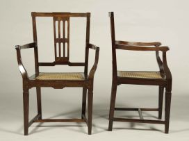 A pair of Cape neo-classical stinkwood armchairs, circa 1800