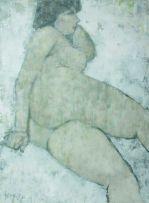 Douglas Portway; Reclining Nude