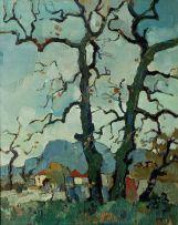 Gregoire Boonzaier; Cape Landscape with Trees