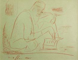 Irma Stern; Arab Reading the Koran