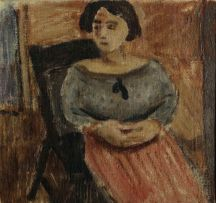 Wolf Kibel; A Seated Woman