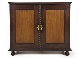 A Cape stinkwood and yellowwood inlaid side cupboard, late 18th century