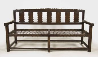 A Cape Queen Anne fruitwood settee, early 18th century