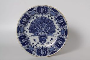 A Dutch Delft blue and white dish, Gerrit Pietersz Kam, late 17th/early 18th century