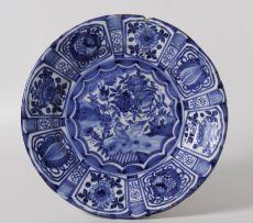 A Dutch Delft blue and white dish, 18th century