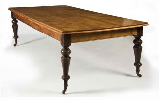 A Cape witels, yellowwood, stinkwood and pine dining table, late 19th century