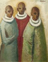 Carl Büchner; Three Initiate Males