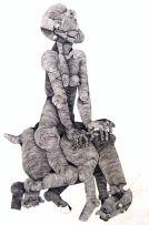 Nat (Nathaniel) Mokgosi; A Figure Riding a Beast