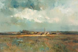 Errol Boyley; Breede River with a View of Houses