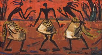 Maurice van Essche; Three Congolese Dancers