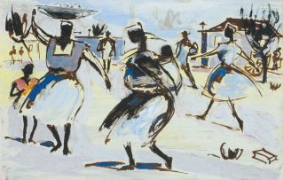 Gerard Sekoto; Women in the Wind