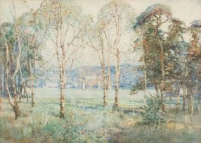 Robert Gwelo Goodman; A Lakeside with Trees