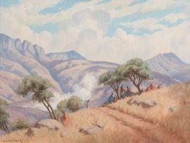 Willem Hermanus Coetzer; Mountain Landscape, N.E. Transvaal