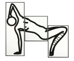 Julian Opie; This is Shahnoza in 3 parts (08.2008)