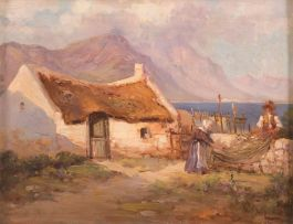 Hugo Naudé; Preparing the Nets, Old Harbour Hermanus