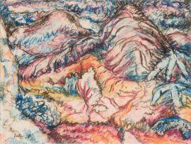 Alexis Preller; A Mountainous Landscape