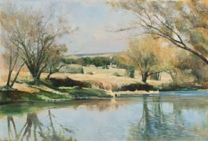 Errol Boyley; A River Landscape