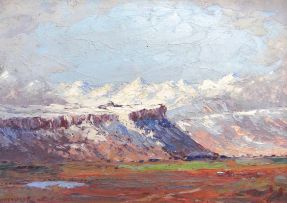 Willem Hermanus Coetzer; A Mountain Landscape