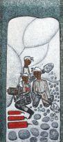Alfred Thoba; Three Mine Workers working
