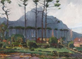 Pieter Wenning; From Grove Road, Claremont, with Devil's Peak
