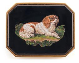 Italian micro mosaic plaque, Luigi Cavaliere Moglia (fl1823-1878)