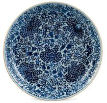 A Chinese blue and white dish, Qing Dynasty, early 18th century