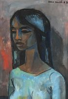 Maurice van Essche; Young Girl in Blue