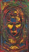 Walter Battiss; Head of an African Woman