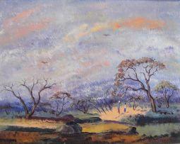 Simon Moroke Lekgetho; Figures Amongst Trees