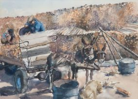 Durant Sihlali; A Donkey Cart Carrying Wood