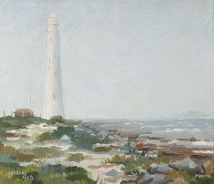 Gregoire Boonzaier; Kommetjie Lighthouse in the Mist