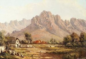 Tinus de Jongh; Landscape with Cottage