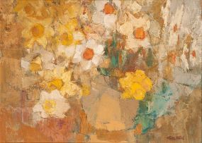 Frank Spears; Still Life with Daffodils and Narcissi