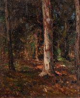 Pieter Wenning; Forest Scene with Bluegum Tree