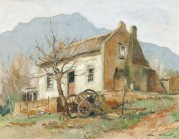 Terence McCaw; A Farmhouse with a Cart