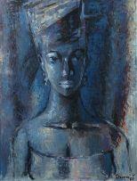 Gerard Sekoto; Blue Portrait
